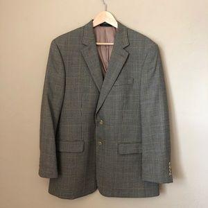 Ralph Lauren Houndstooth Tweed Grey Sports Blazer
